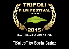 "award best short animation ""Boles"" by Spela Cadez"